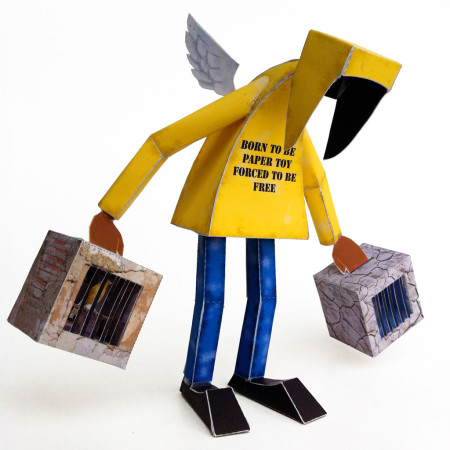 Born to be paper toy, forced to be free