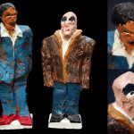 Characters, painted ceramic